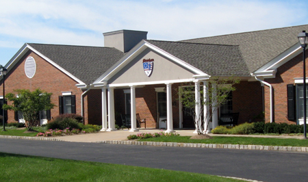 the front of Mendham clubhouse
